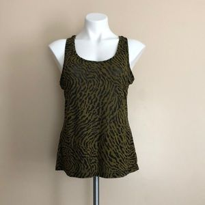 Dots Animal Print Tank with Crotched Racerback